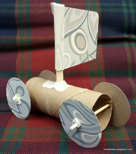 Nerdy Science Toilet Paper Tube Sail Cars