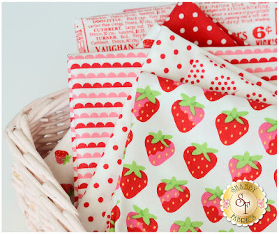 Sunrise Studio 2 Strawberry FQ Set from Lakehouse Dry Goods | Shabby Fabrics