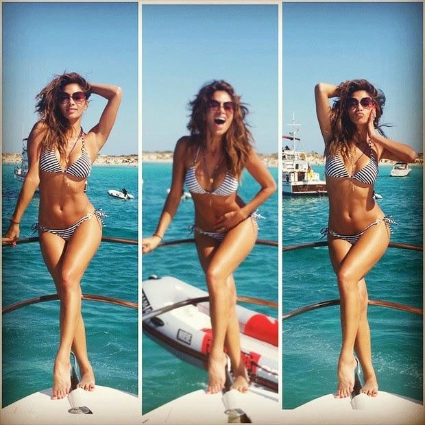 Nicole Scherzinger has fun in Ibiza