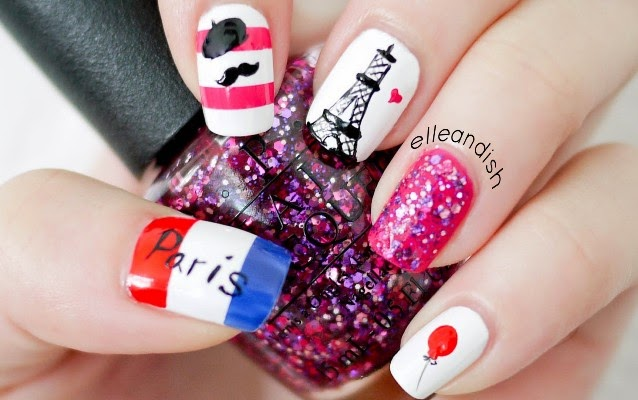 Let's go Paris (Paris, Nail art, nail design, eiffel tower) - Awesome Nail Stuffs: Let's Go Paris (Paris, Nail Art, Nail Design