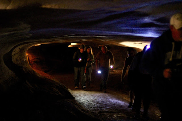 Emerging from the Lumbar Tunnel-Longhorn Cavern-Longhorn Cavern State Park-Burnet, Texas