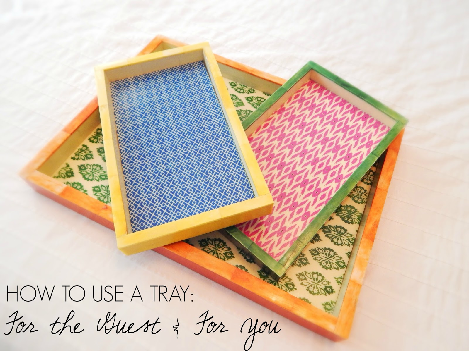 how to use a tray in your home - free giveaway