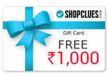 Shopclues E-voucher for Free when you Spend Online & Get Rs.1000 :buytoearn