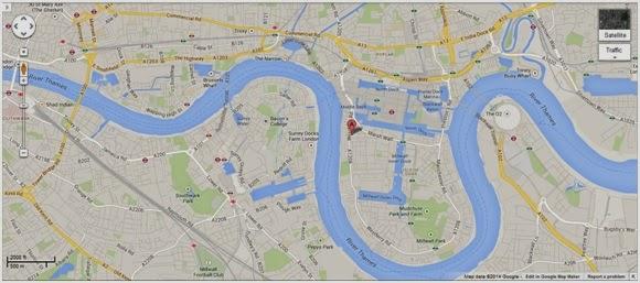 金絲雀碼頭住宅公寓地圖