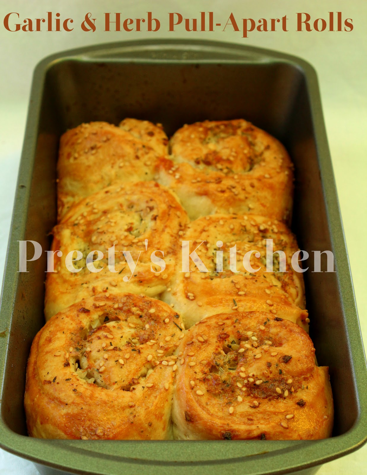 ... Eggless Garlic & Herb Pull-Apart Rolls Recipe (Step by Step Pictures