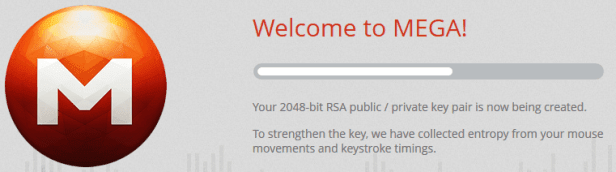 2048-bit key encryption Mega