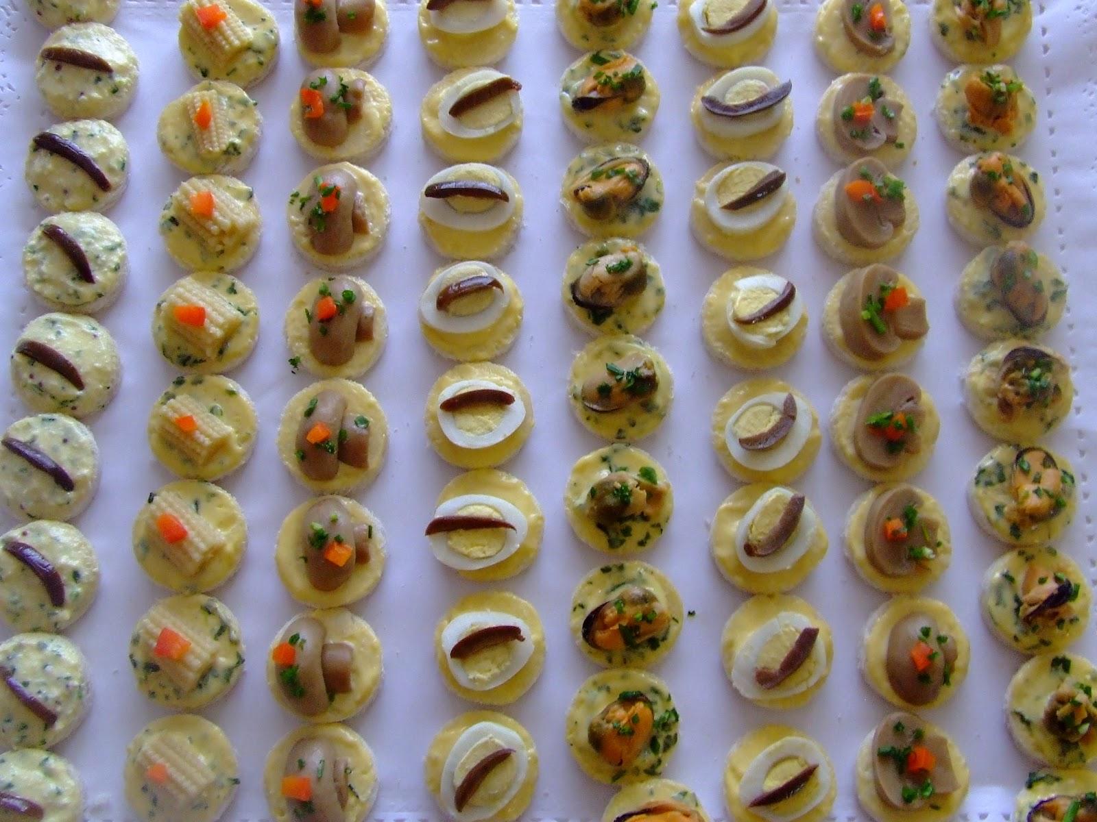 La borboleta tortas decoradas canapes para coktail - Variedad de canapes frios ...