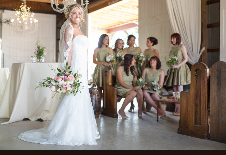 Green Bridesmaid Dresses Rustic Wedding Decor