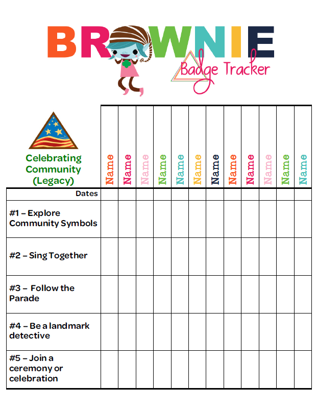 girl scout attendance sheet images   frompo