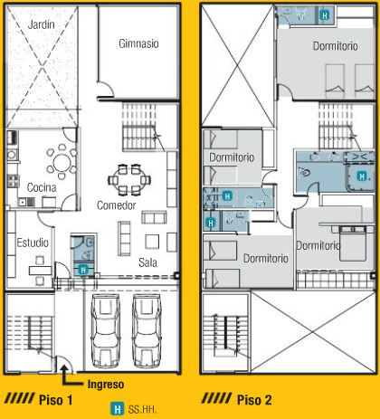 planos de casas 8 x 15
