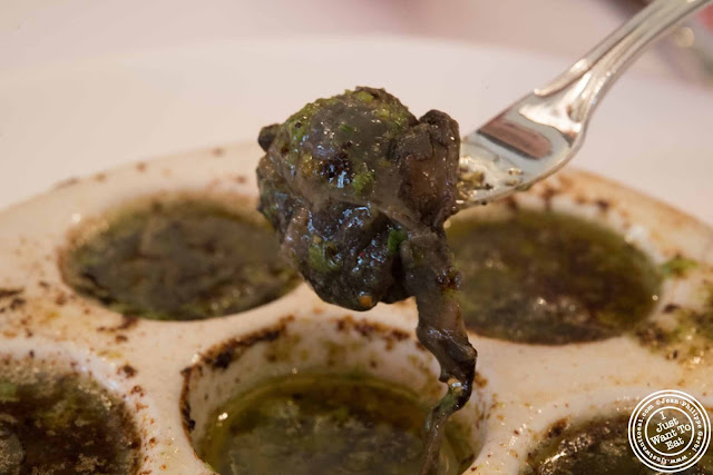 image of snails or escargots de Bourgogne at Jacques Brasserie , NYC, New York