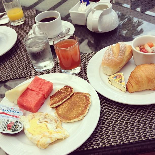 breakfast at meritus pelangi resort, langkawi, malaysia