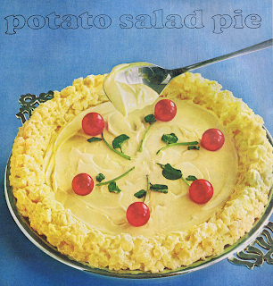Potato Salad that has been decoratively arranged in a pie plate; hence, potato salad pie.