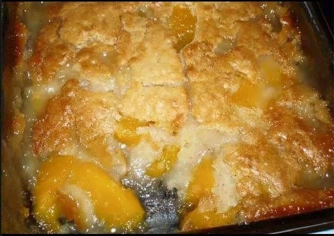 Fresh Peach Crisp With Cake Mix