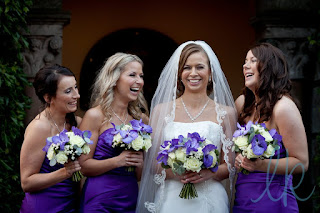 bride, bridesmaids, wedding hairstyles for long hair