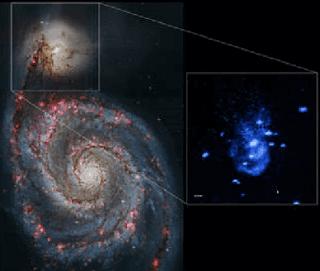 موقع مجرة  NGC 5195