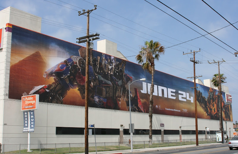 Transformers 2 movie billboard