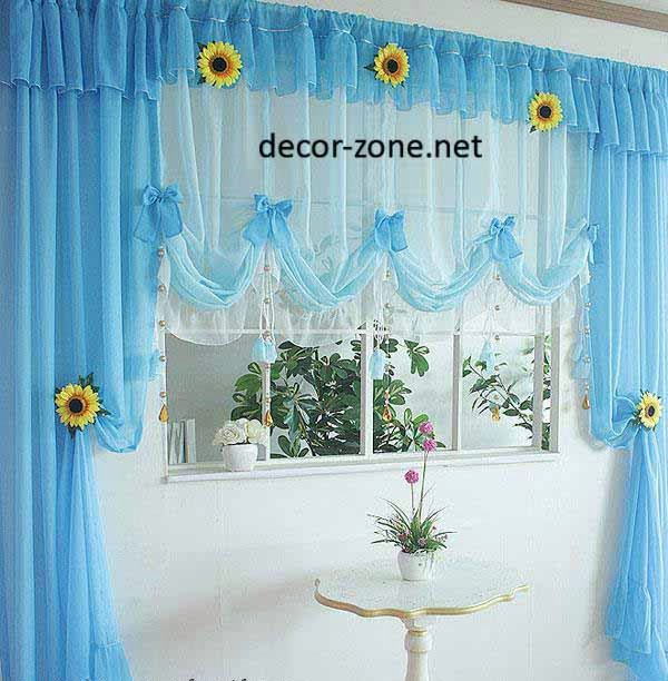 Blue Kitchen Window Curtain Ideas Window Decorating Ideas