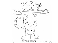 Tiger Alphabet Coloring Pages