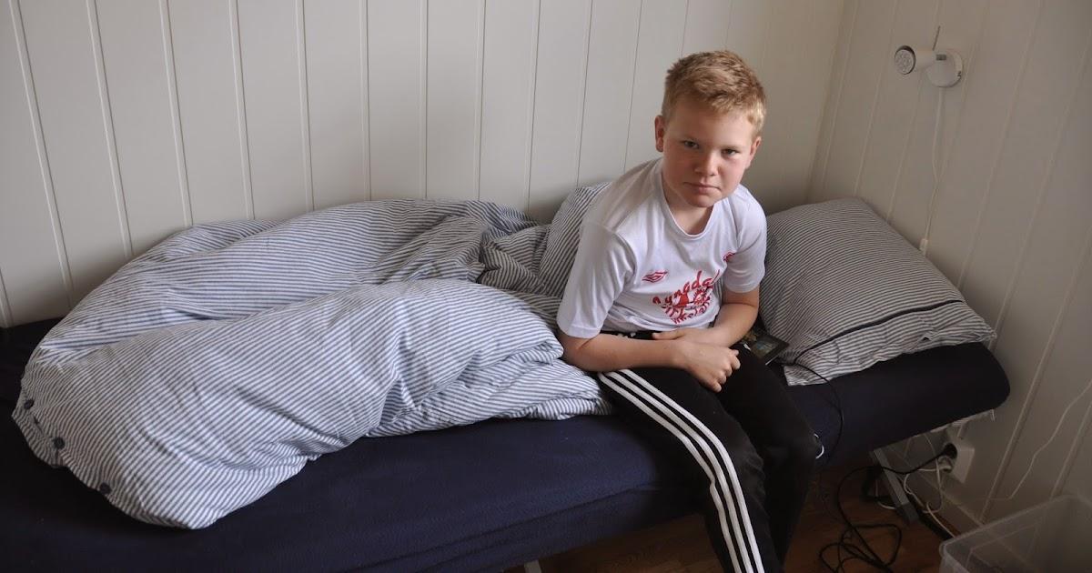 hytte og s?nt: Plassbygd seng
