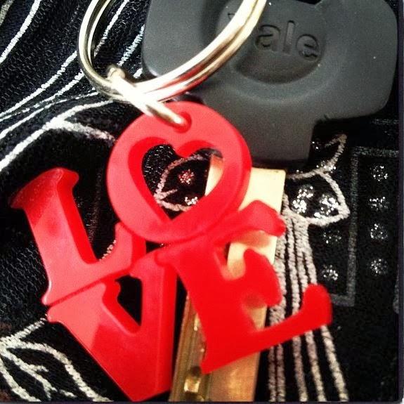 Acrylic Love Keychain