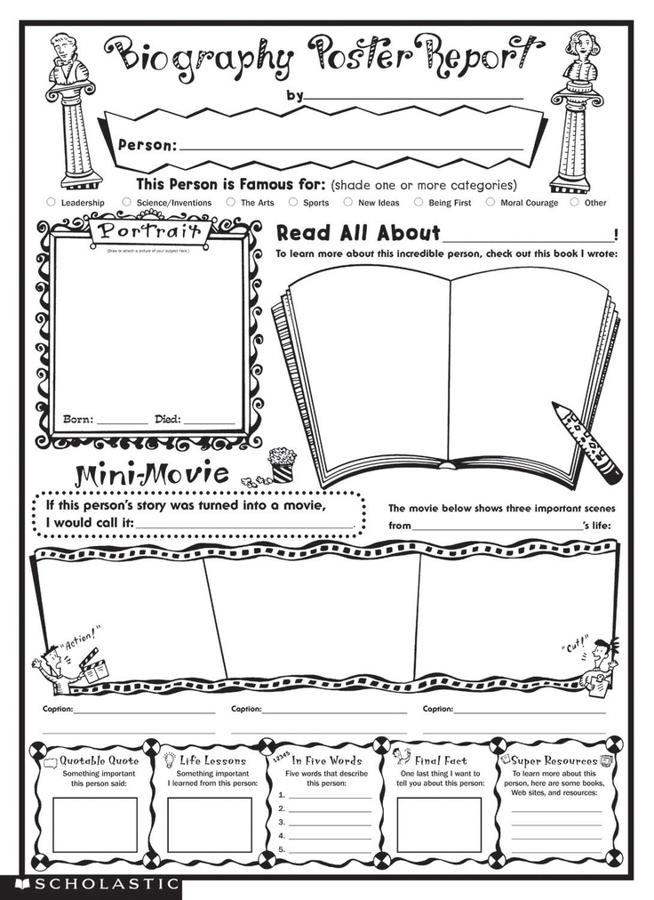 Book Report Worksheet ESL Printables