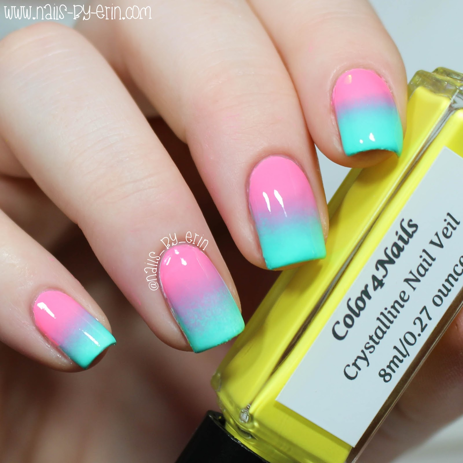 NailsByErin: Bright Gradient Nails | Color4Nails Crystalline Nail ...