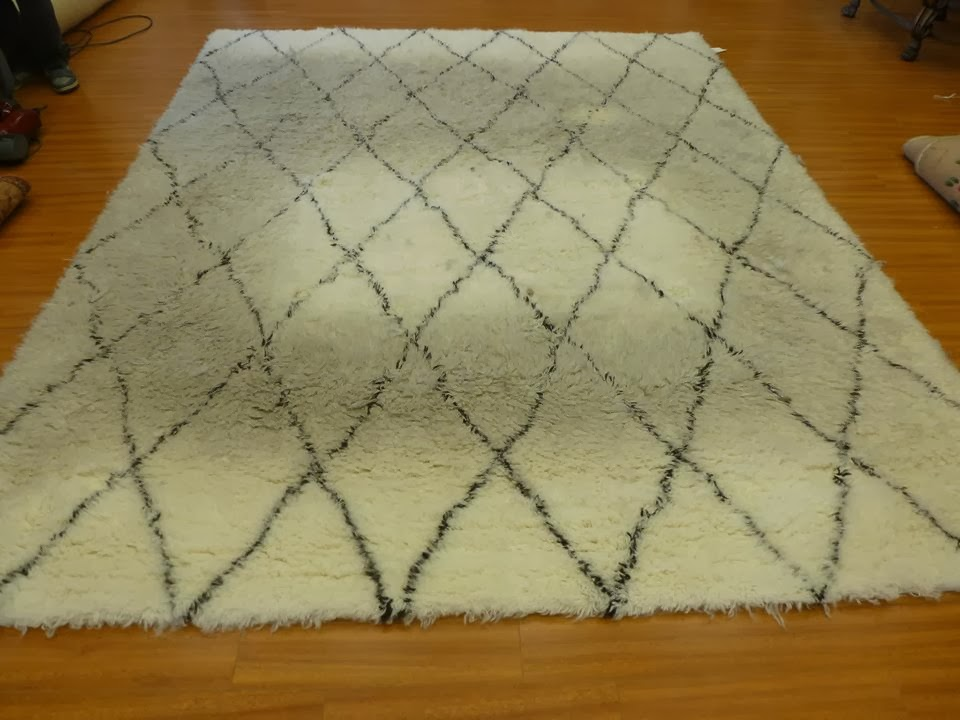 how to spot clean shag rug