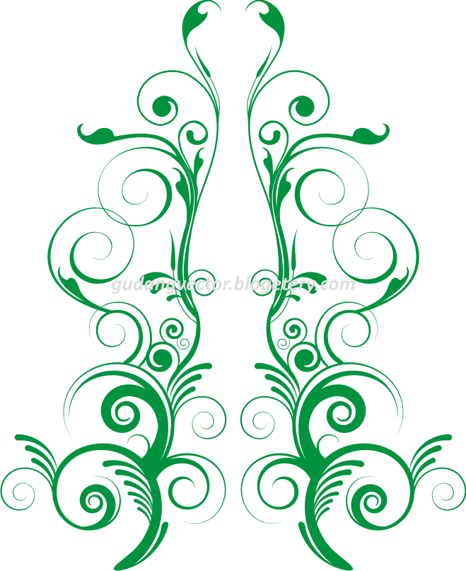 Gudang Vektor Gratis: Floral Vector Simetris