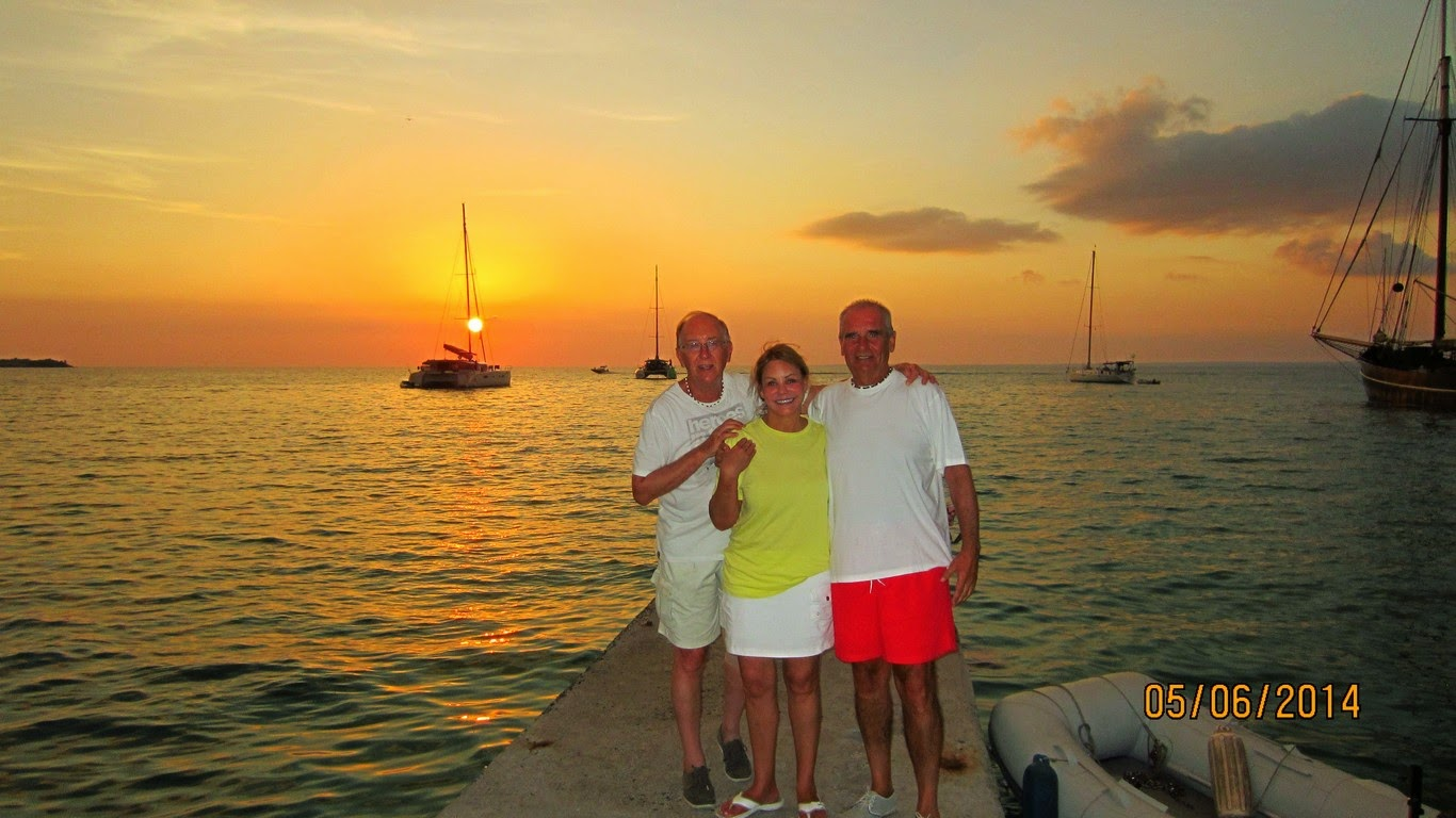Ginger, Andrzej and Robert in Grand Case, St. Martin