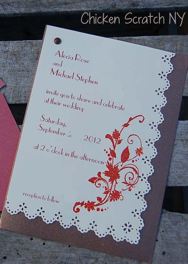 DIY Autumn Wedding Invitations