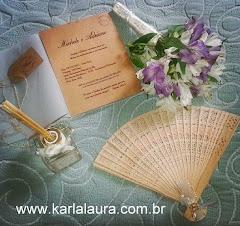 Convite de casamento rústico - Michele e Adriano