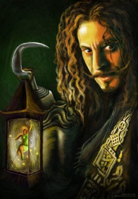 Angela Bermudez deviantart pinturas filmes cultura pop cinema Jason Isaacs como Capitão Gancho em Peter Pan