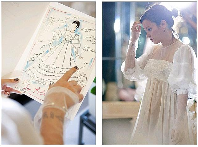 The bride DID wear Chanel: The Lagerfeld dress Lily Allen wore to the reception