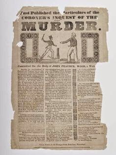 A crime broadside of the sort that the Calendar collected together