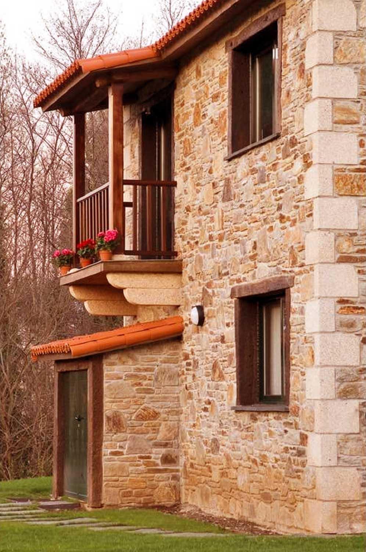 Construcciones r sticas gallegas dos niveles - Piedra rustica para fachadas ...