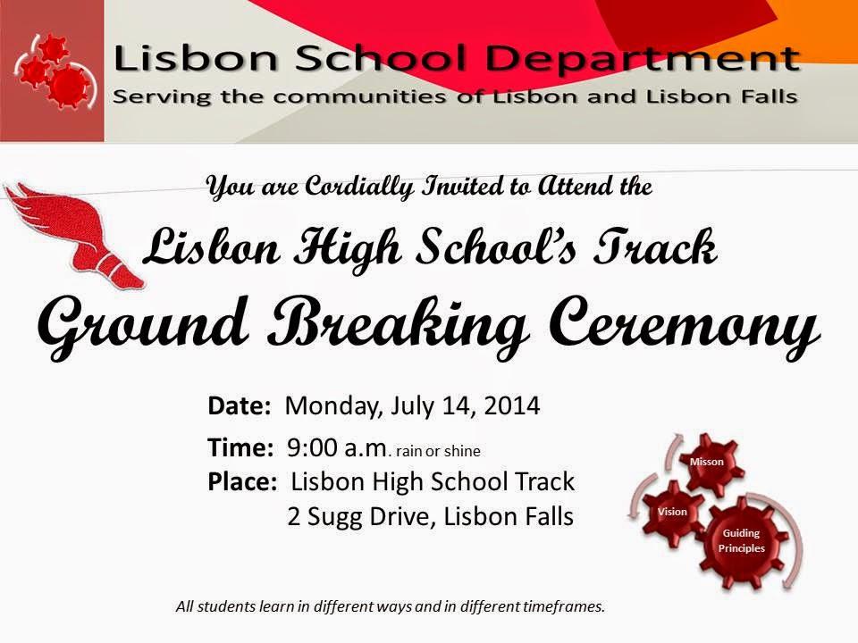 The Lisbon Reporter: Lisbon Track Ground Breaking Ceremony Invitation