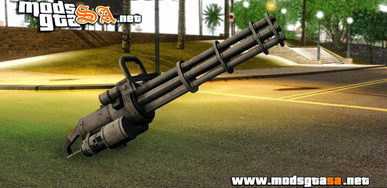 SA - Minigun do GTA V