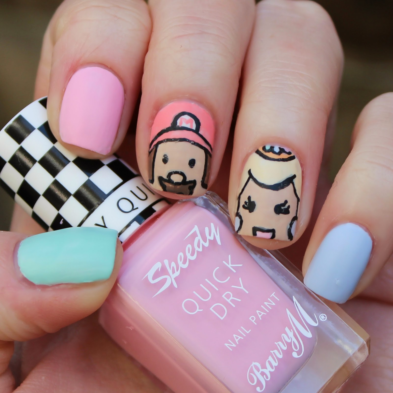 princess peach nail art