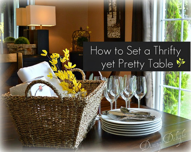 Dining delight setting a simple thrifty yet pretty table for Pretty html table
