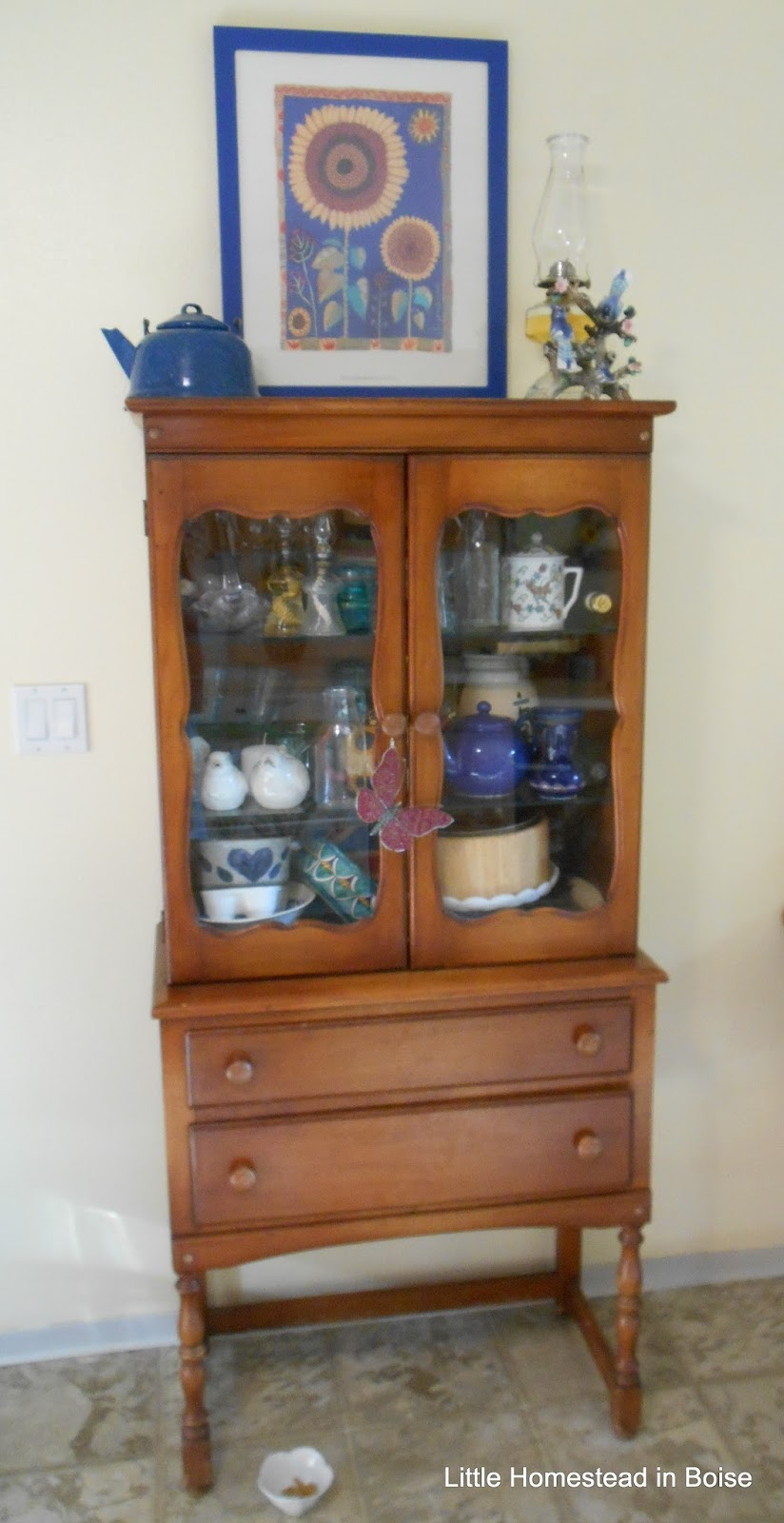 I May Refinish This Thrifted Piece Soon, Itu0027s Either Oak Or Mahogany!  $40.00 At Goodwill!!!