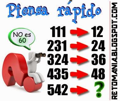 Sólo para genios, Piensa rápido, Descubre el número, Retos matemáticos, Desafíos matemáticos, Problemas matemáticos, Problemas de lógica, Problemas de ingenio, Juegos de ingenio