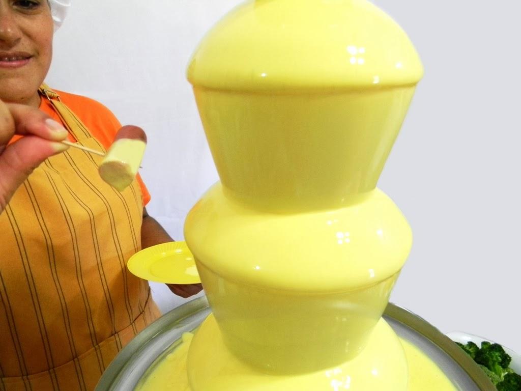 cascada de queso con salchichas profesional venta