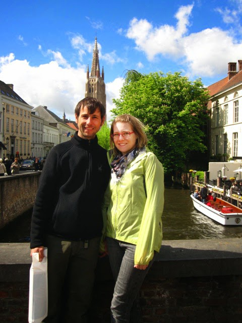 Ashley and Adam on bicyclng trip in Belgium and Amsterday - Kent Buttars, Seattle Wedding Officiant