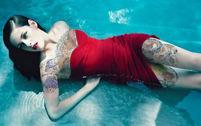 Milla Jovovich Old style Tattoo