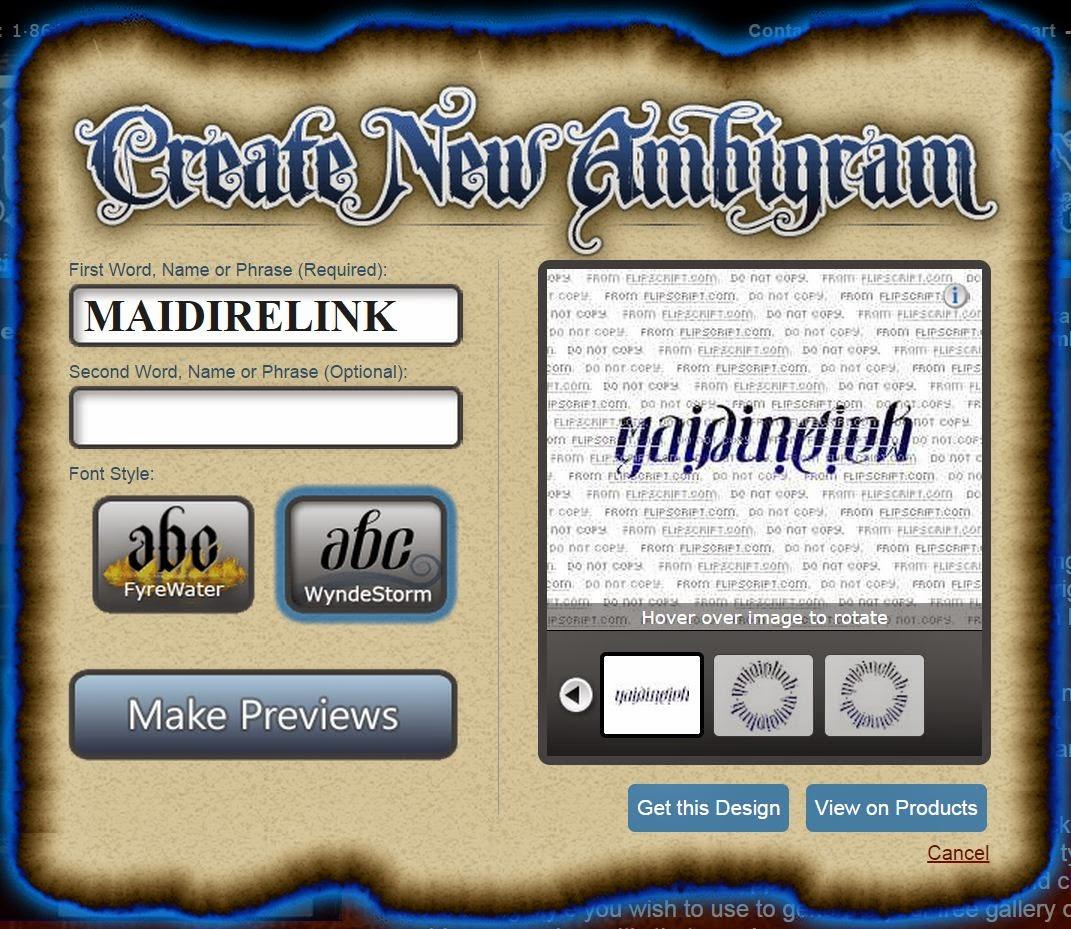 Come creare un ambigramma online: 3 Ambigramma Generator