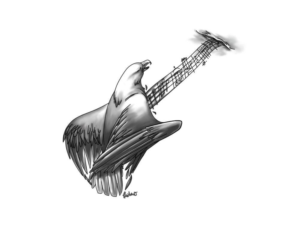 9 Cool Guitar Tattoos Tattoo Design Ideas
