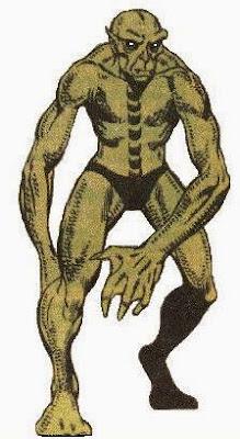 Dibujo de alienígena Badoon