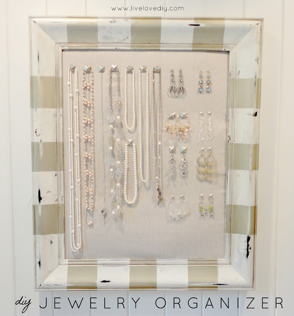 DIY Jewelry Organizer...make it yourself!