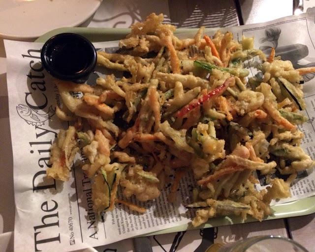 Verduras en tempura, La Tape. Tusolovive Madrid.